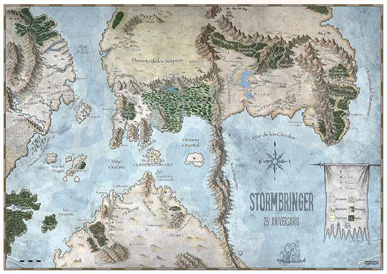 Mapa Stormbringer 25 Aniversario Miniatura